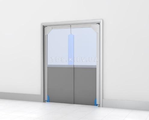 Распашная дверь с усиленной нижней частью